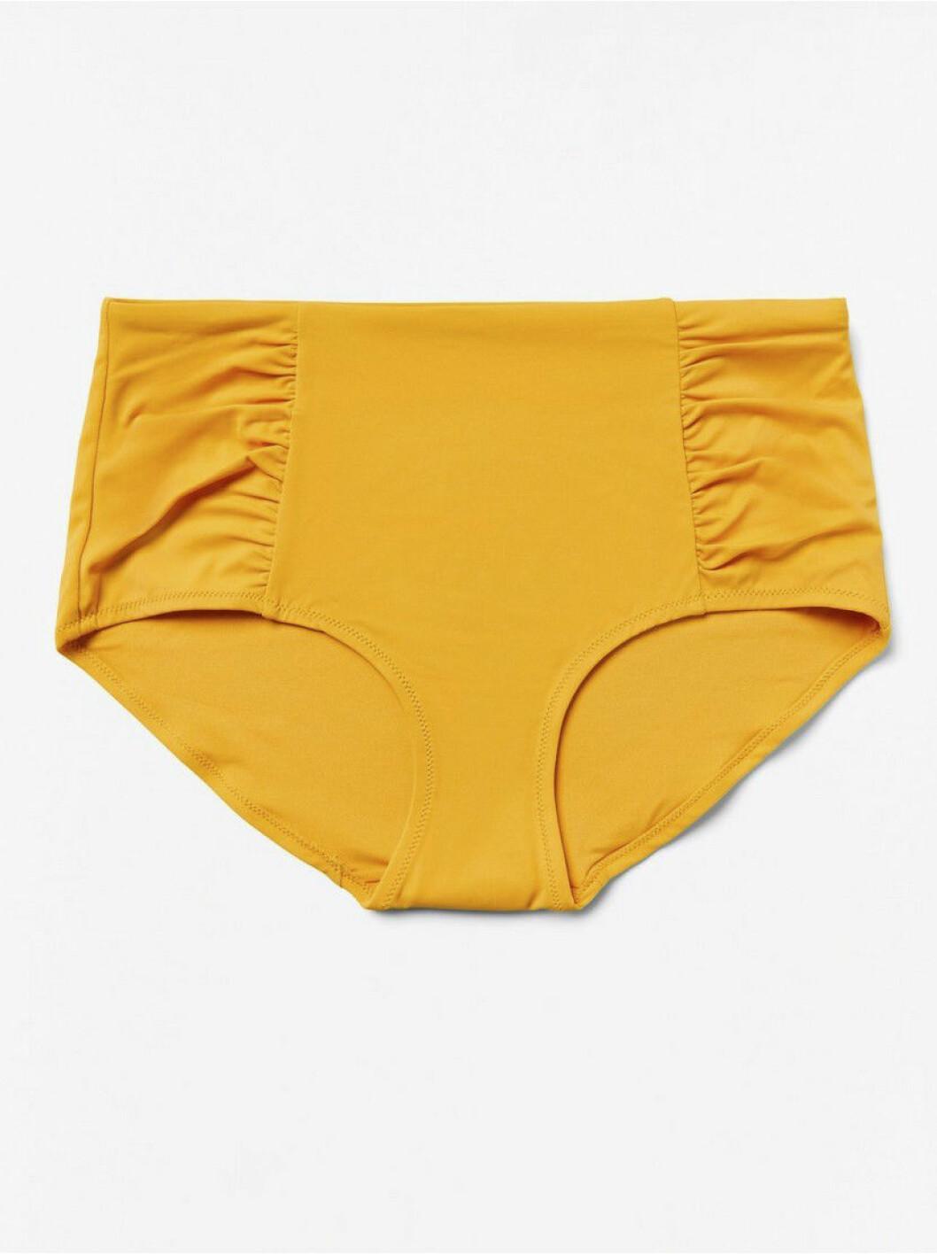 Gul bikiniunderdel från Lindex.