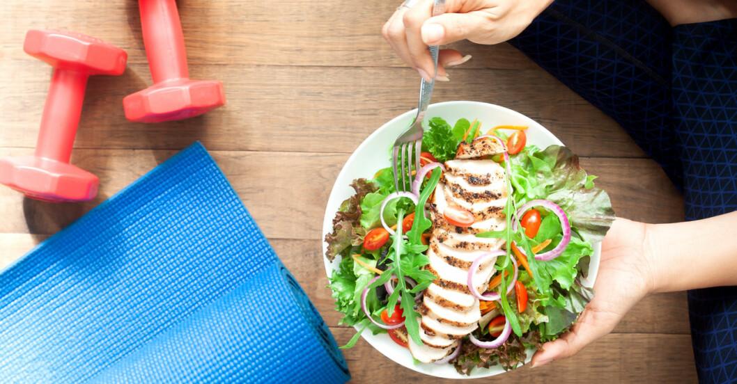 Accelerationsfasen under 17-dagarsdieten innehåller mycket träning, grönsaker och magert protein.