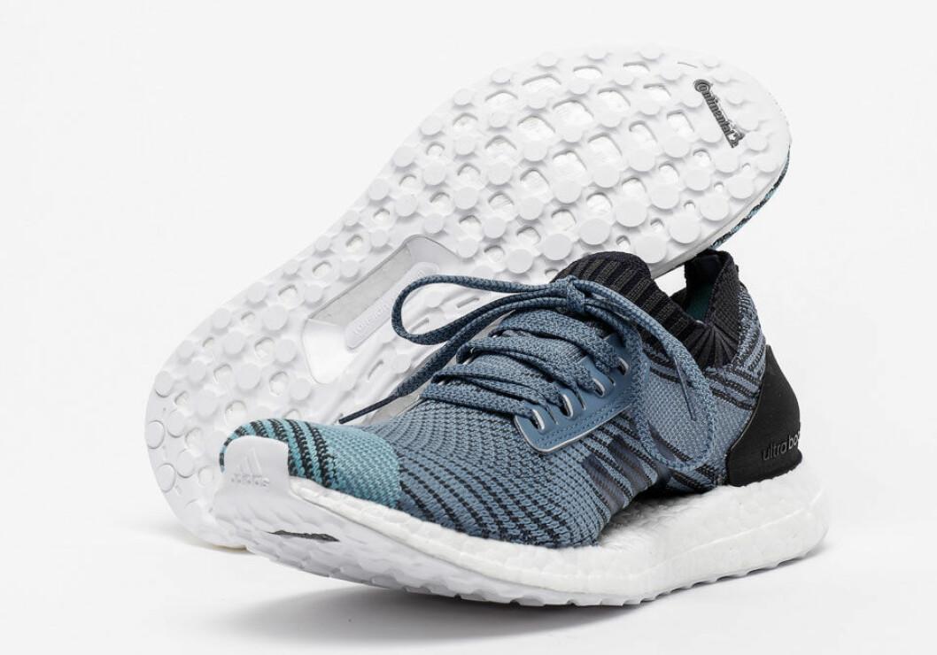 Adidas löparskor Parley Ultraboost är gjorda av plast som man städat upp från havet.