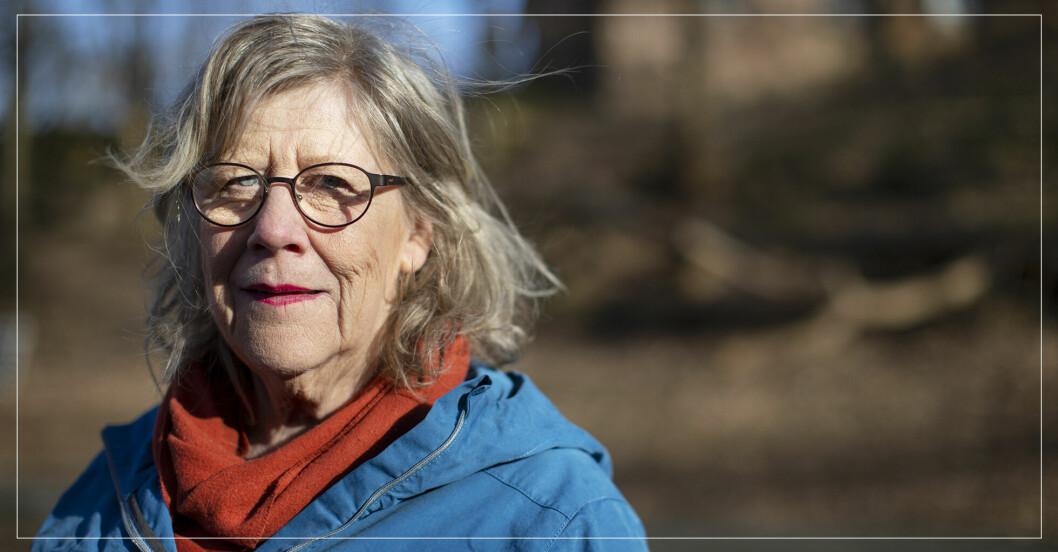 Agnes Wold med blå jacka.