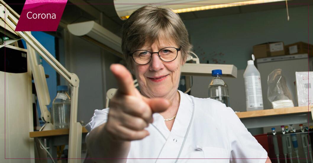 Agnes Wold avlivar vanliga myter om coronaviruset.