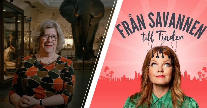 Agnes Wold i SVT:s program Från savannen till Tinder