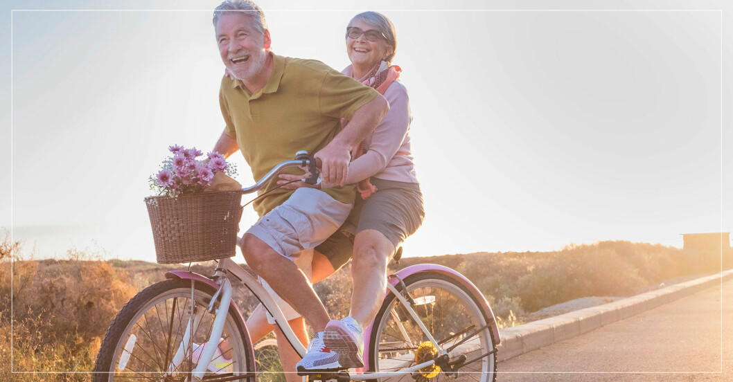 par som åldras hälsosamt och lyckligt
