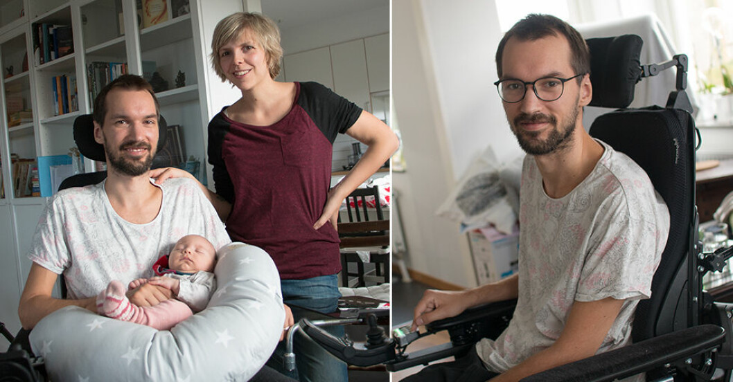 """Småbarnspappan Danny, 26, är sjuk i ALS: """"Det är en dödsdom"""""""