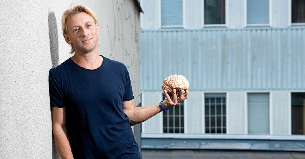 Överläkaren i psykiatri, Anders Hansen är aktuell med sitt eget tv-program, Din hjärna, på SVT.