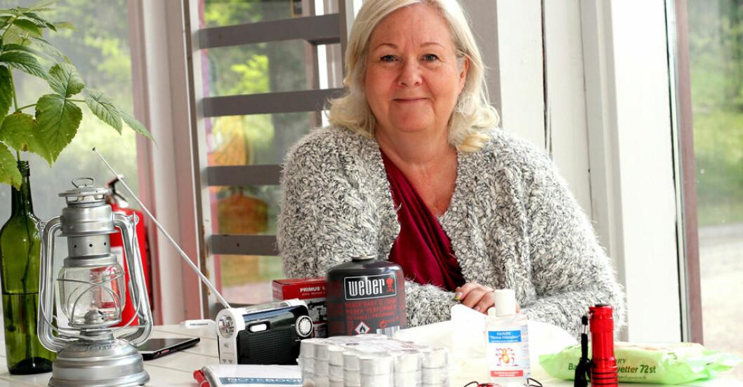 Anette Staaf, 59, tycker att de flesta är alldeles för dåligt förberedda på en katastrof.