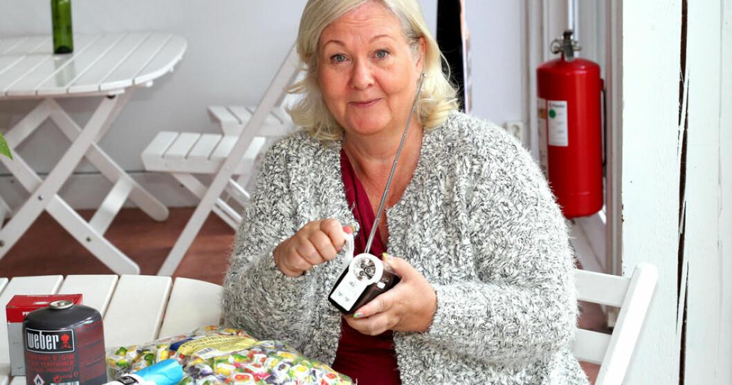Anette Staaf har bland annat en vevradio i sin hemmalåda.