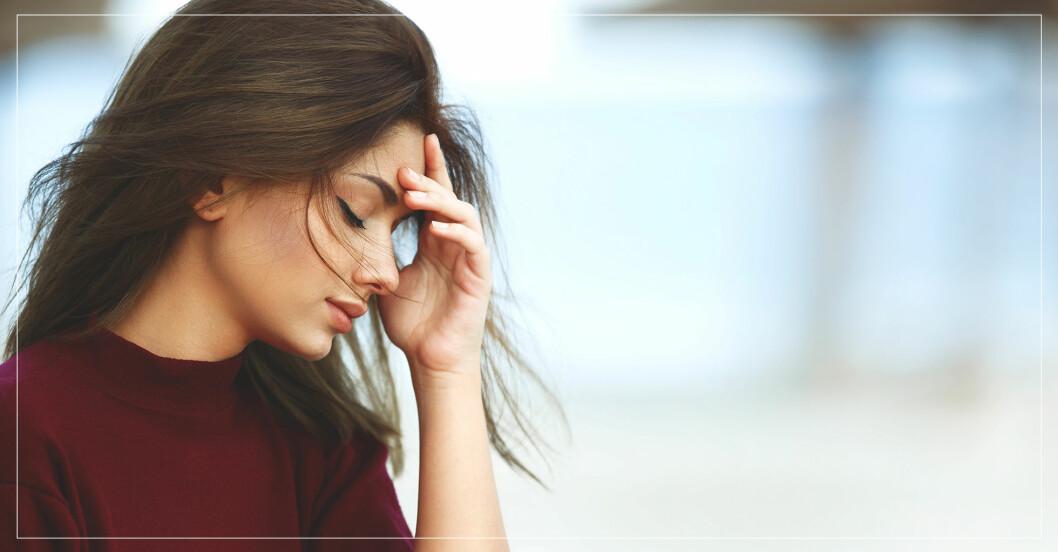 ung kvinna med ångest