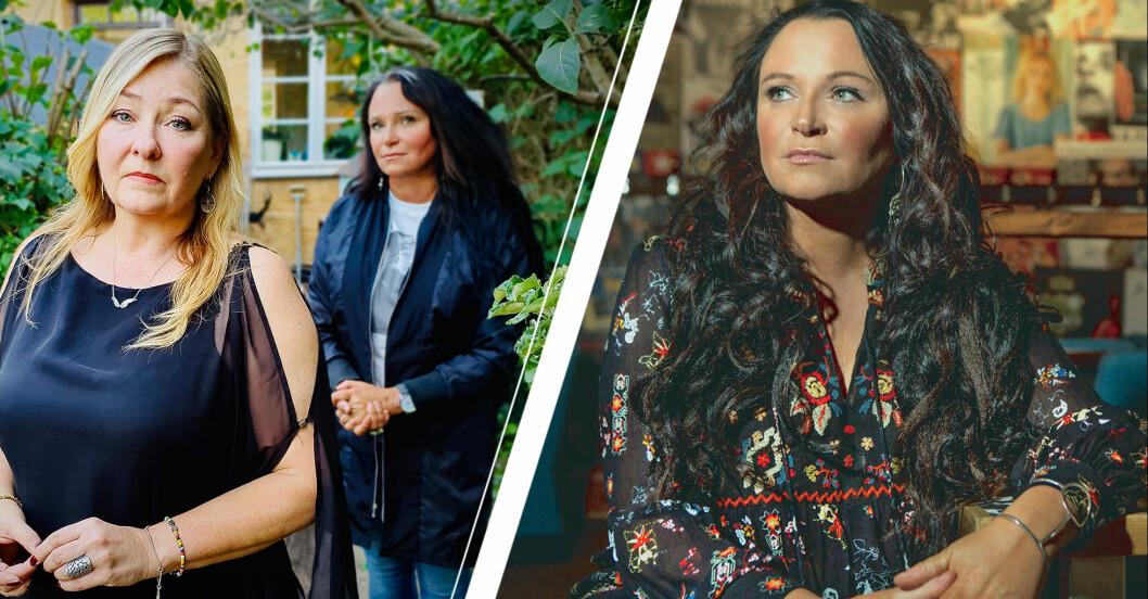 Programledaren Anja Kontor och Jeanette Åkerlund, mamma till Ebba som omkom i attentatet på Drottninggatan