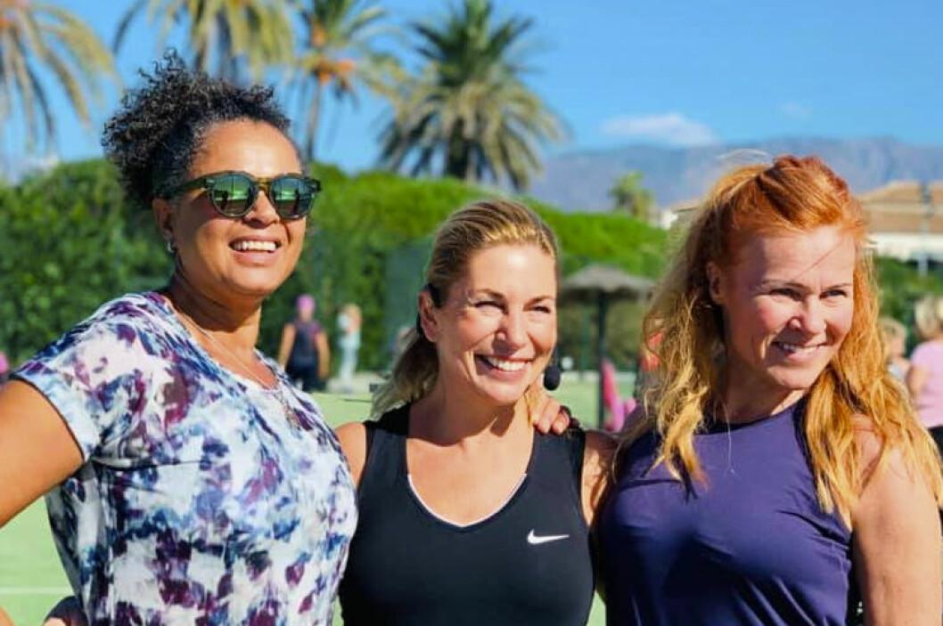 Blossom, Ann Wilson och Pippi på träningsresa med MåBra