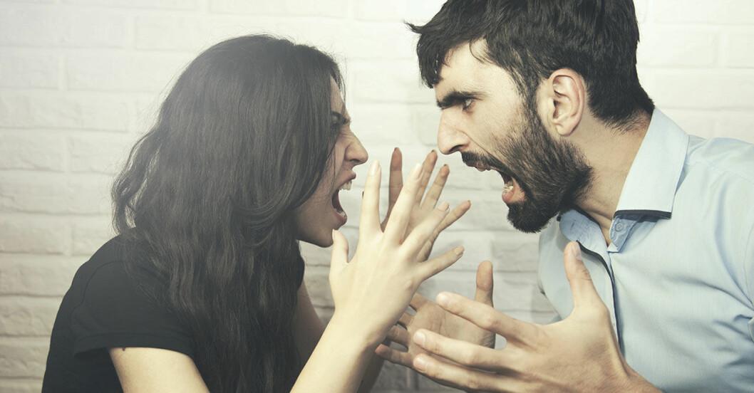 Argt par bråkar med varandra