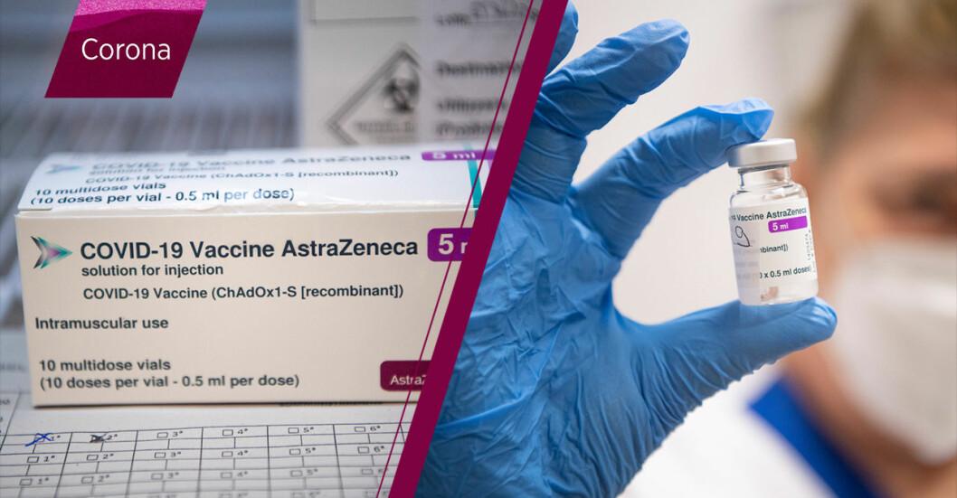 Astra Zenecas vaccin ska användas på personer över 65 år.