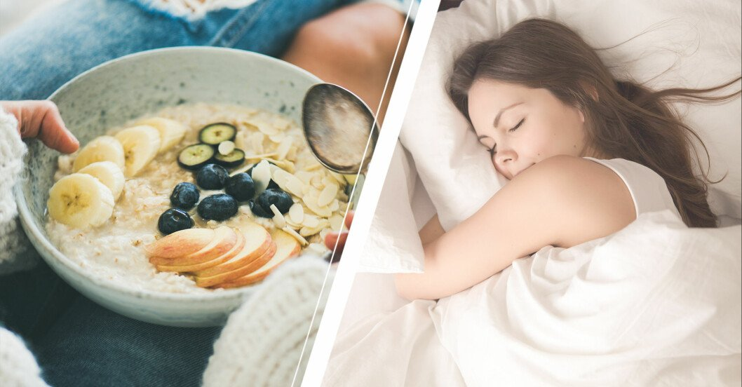 maten du ska äta på dagen för att sova gott på natten