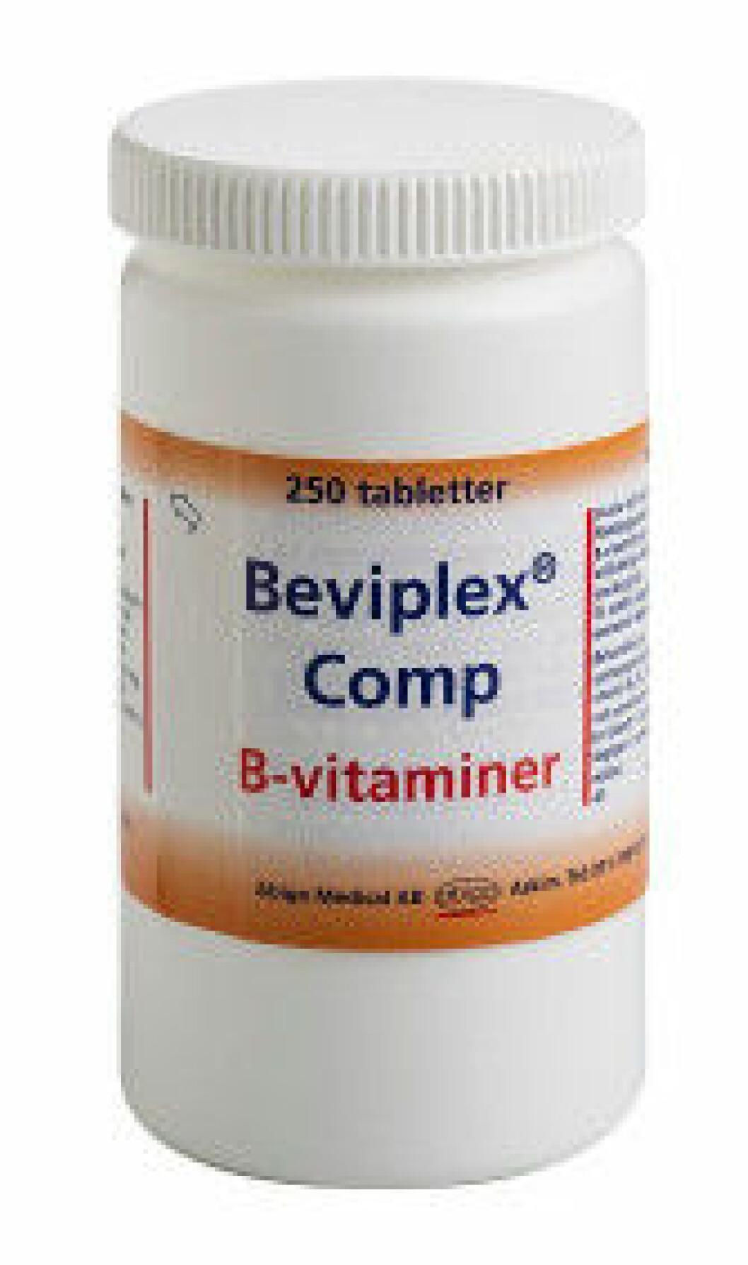 Tillskott vitamin B, från Apoteket.