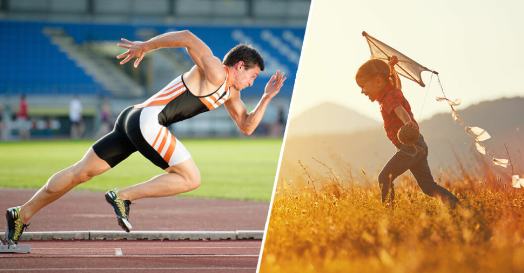Barns muskler är ibland mer uthålliga än en vuxen atlets!