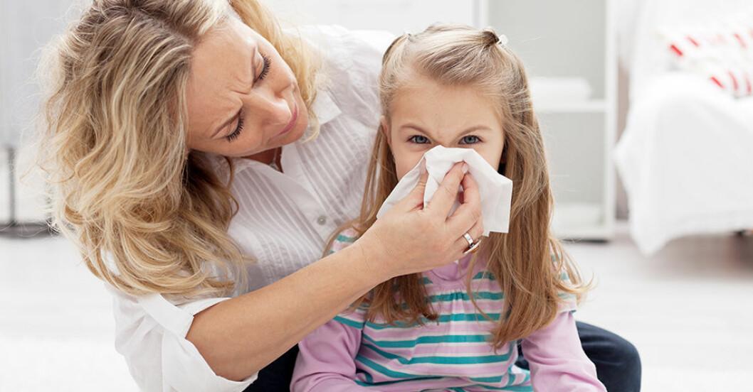 barn snor snuva förkylning