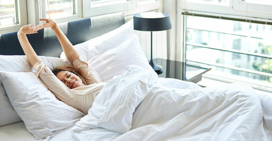 Att sova på rygg är den bästa sovställningen – så lär du dig