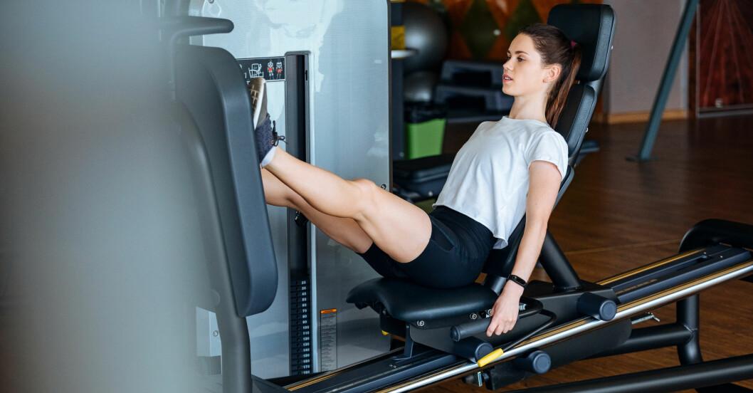 bästa träningsmaskinerna: sittande benpress