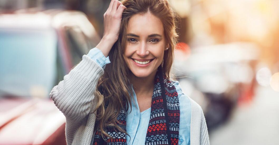 Kvinna på gata