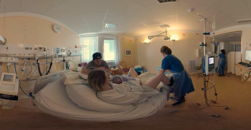 Se världens första förlossningsfilm i VR!