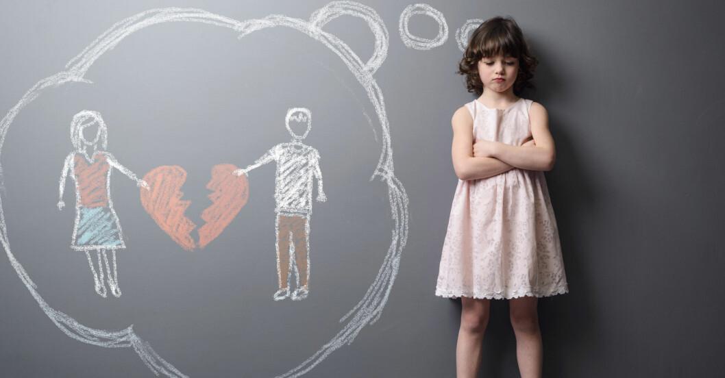 Barnen vill ha inflytande vid en skilsmässa.
