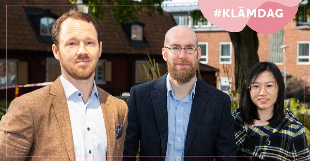 Tre av forskarna från KI som tagit fram AI-metoden för bröstcancerdiagnostik.