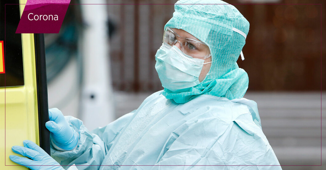 sjukvårdspersonal med skyddsutrustning