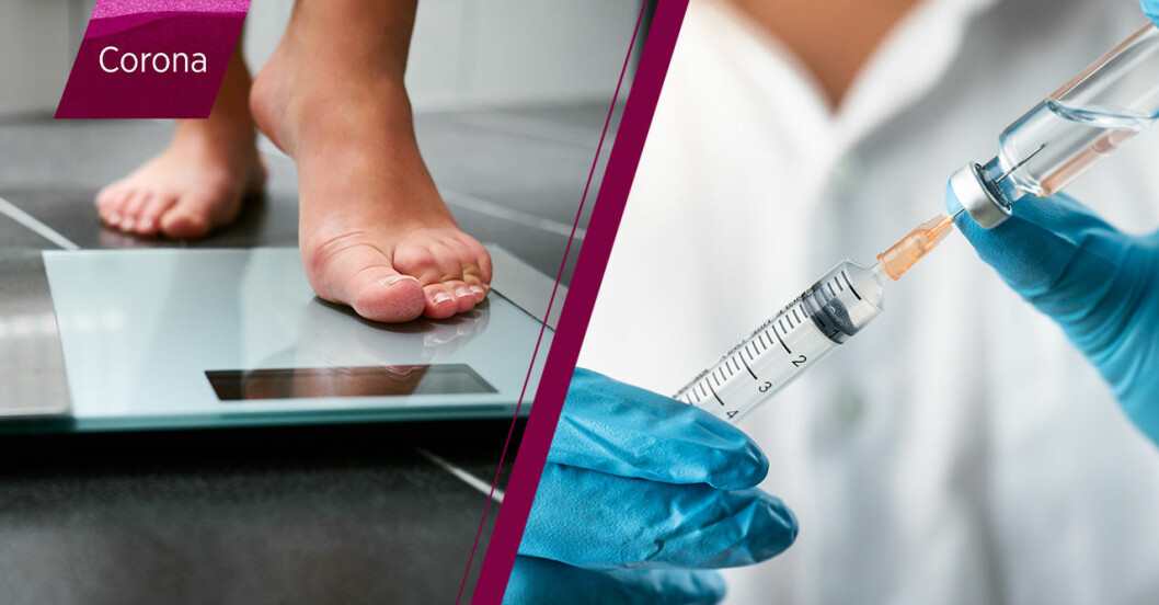 coronavaccin mindre effekt vid övervikt