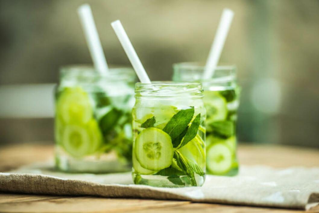 Drink med gurka som bas.