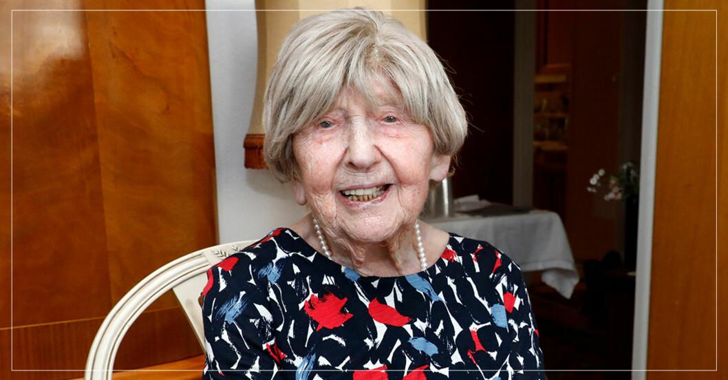 109-åriga Dagny Carlssons glädjebesked efter tiden på sjukhus