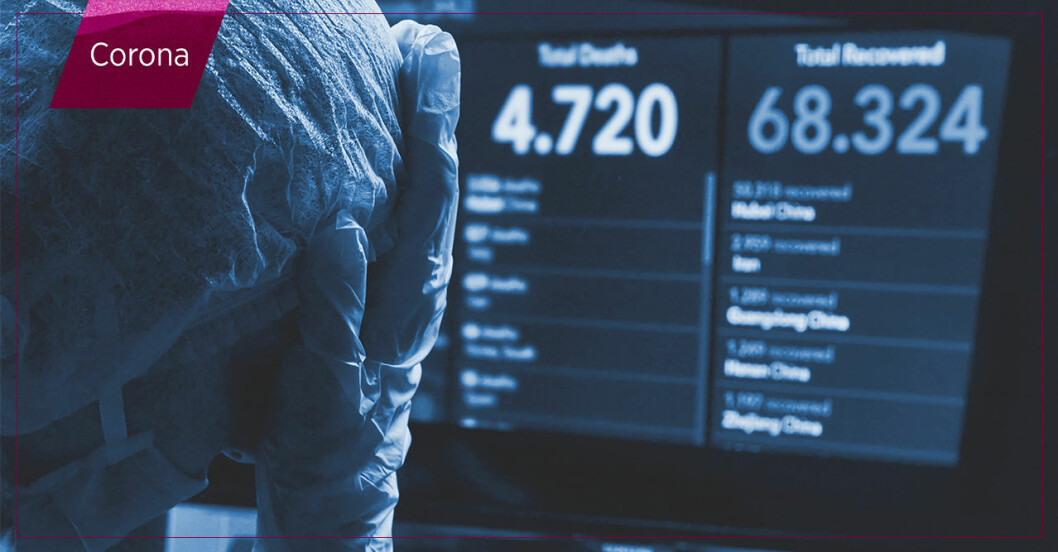 Dödssiffror på skärm