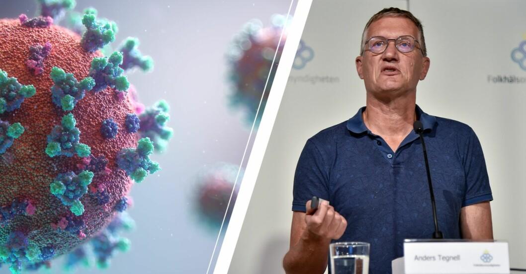 Anders Tegnell och covidmolekylen
