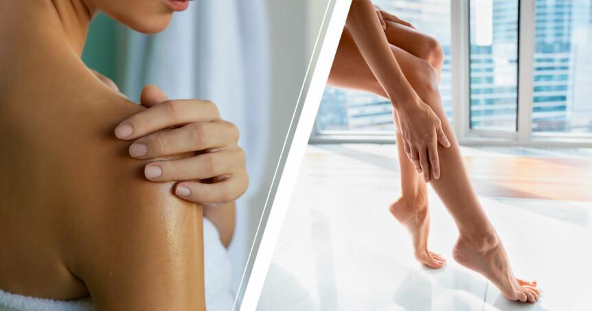 duscholjor för torr och känslig hud