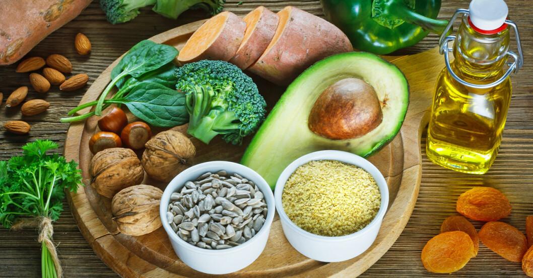 Mat rik på E-vitamin.