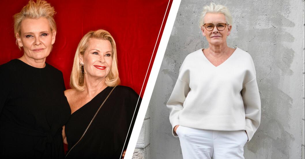 Eva Dahlgren och Efva Attlings lyckliga äktenskap.