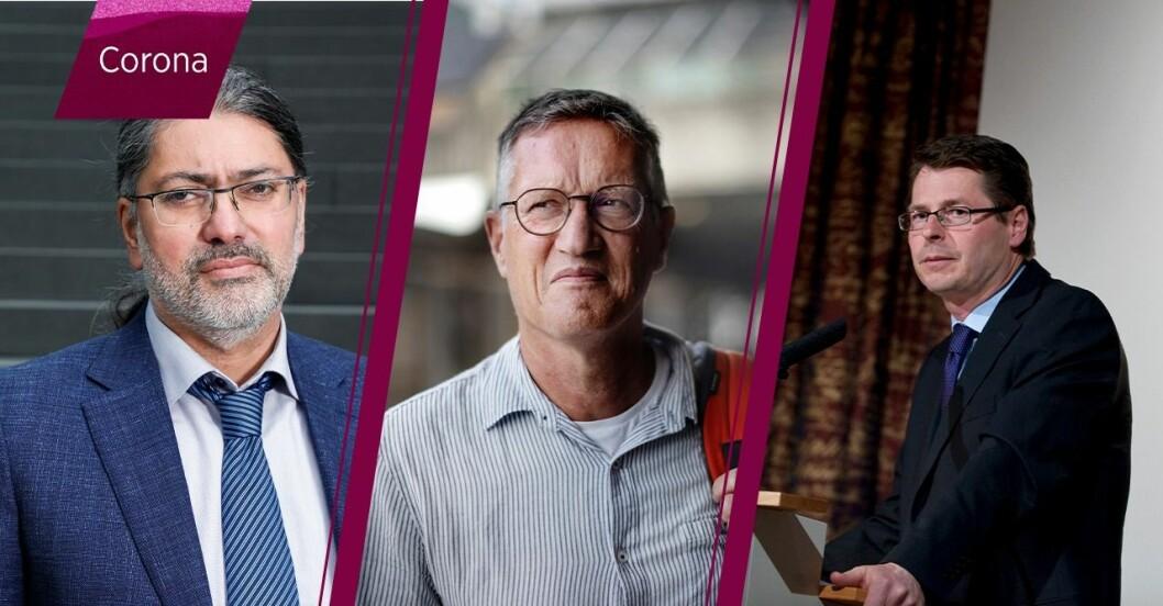 Ali Mirazimi, Anders Tegnell, Hans-Gustaf Ljunggren