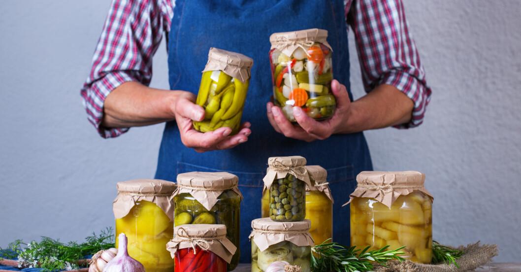 fermentering pågår: grönsaker som lugnar magen