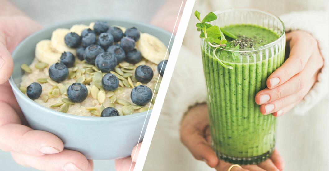 nyttigare frukost gröt/grön smoothie