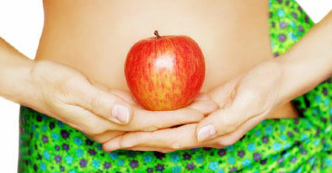 Äpplen kan ge uppsvälld mage.