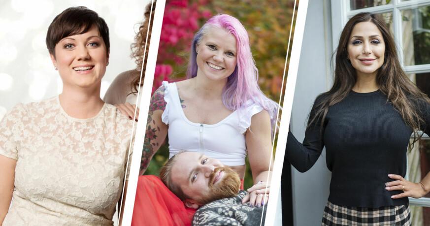 Ellen Tejle, Elina Raeder och Albin Ringstad, Elahe Eskandari från Gift vid första ögonkastet