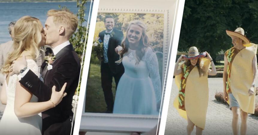 Elinor Sundfeldt och Lars Ekström gifter sig, Susanna Lundberg och Johan Skantz bröllopsfoto och Sofia Lindhe och Anton Pehrson i tacodräkter