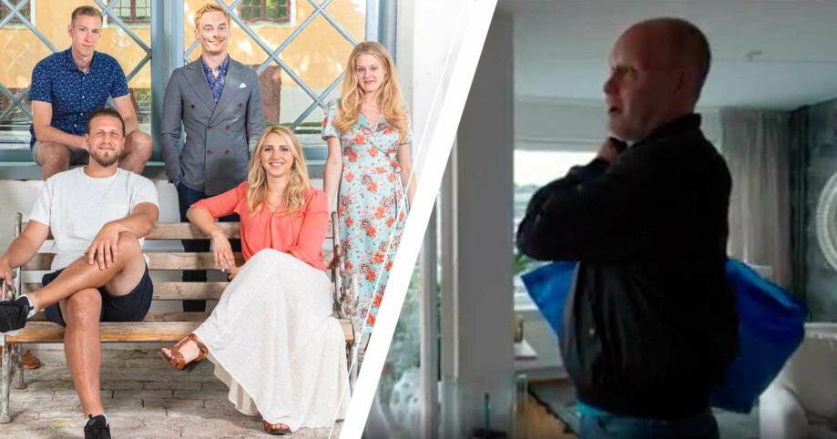 gift vid första ögonkastet säsong 7, Per Rydergård med en blå ikeapåse