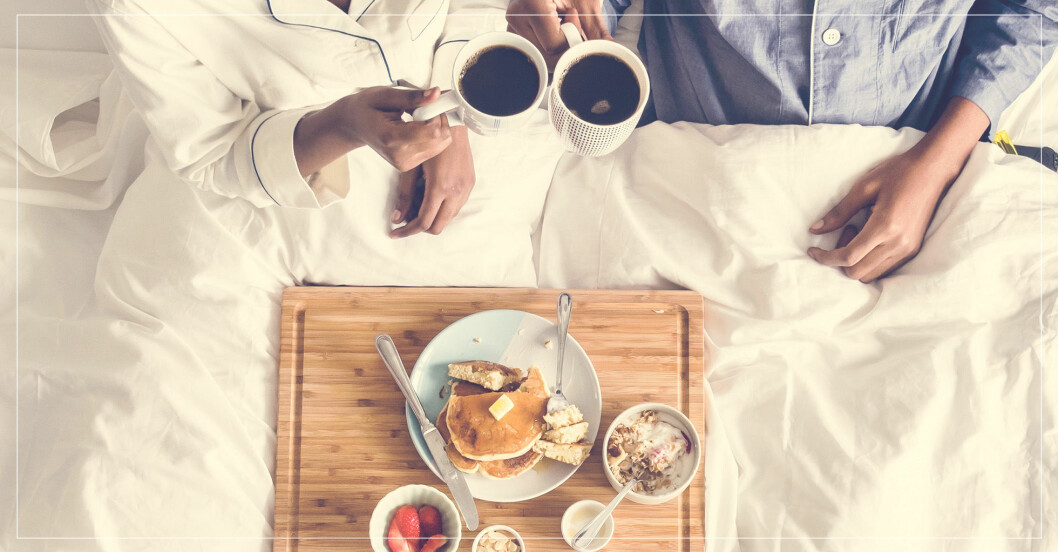 Glutenfri frukost i sängen