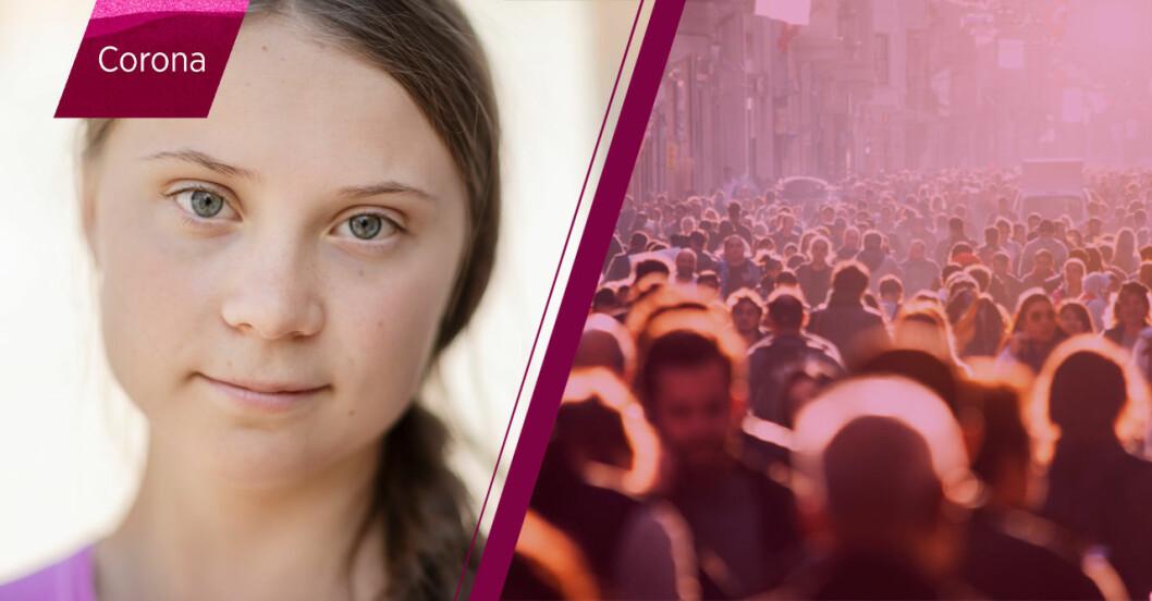 Greta Thunberg drabbades av coronaviruset.