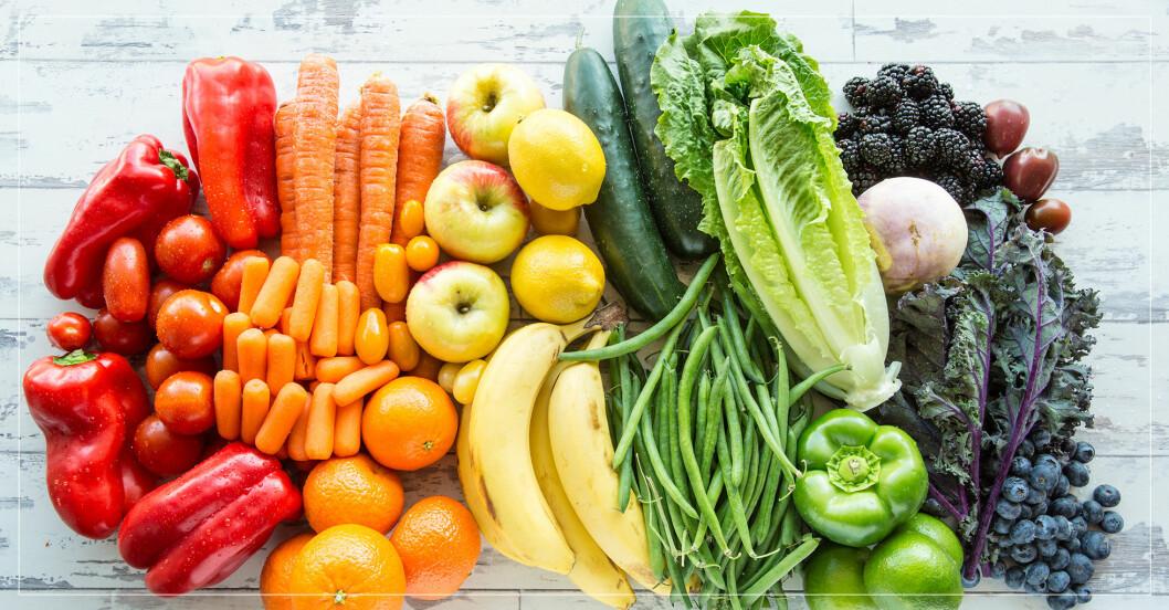 Frukt, grönsaker och bär.