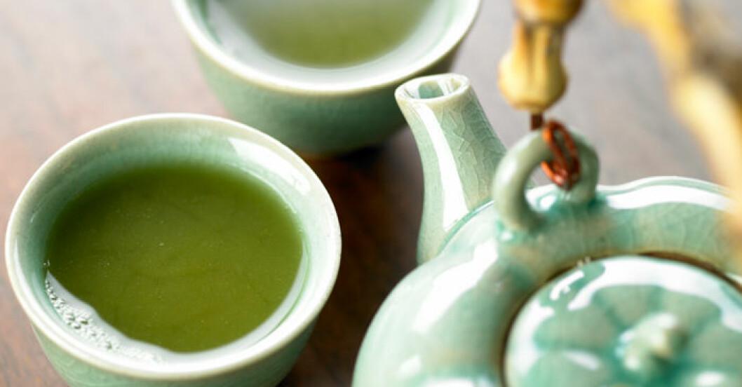 Socker i grönt te