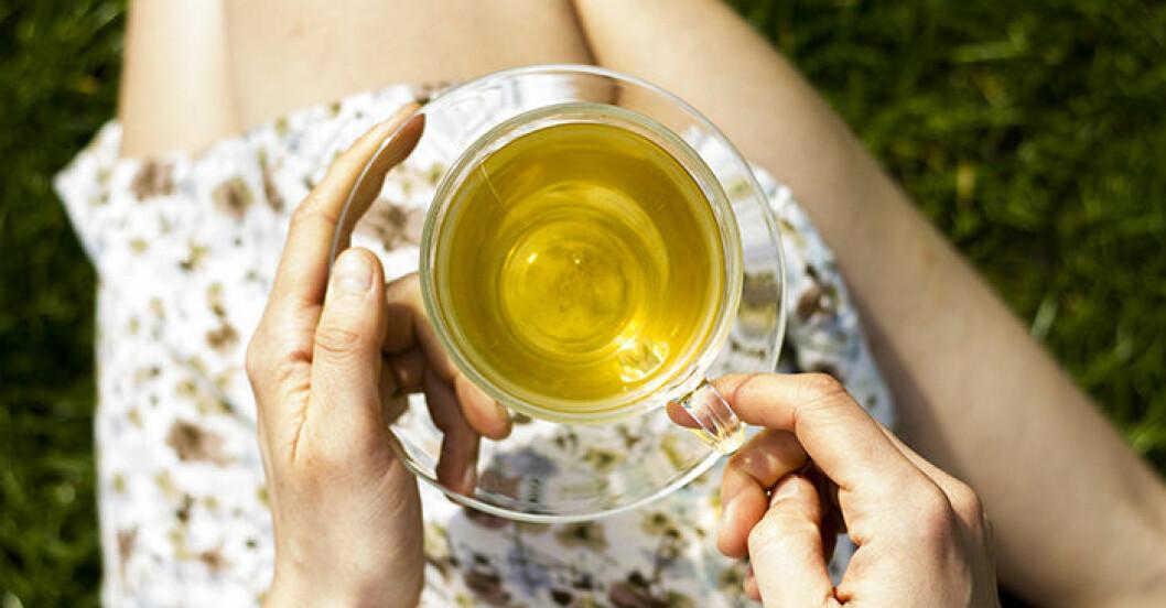 Grönt te kan hjälpa med vikten.