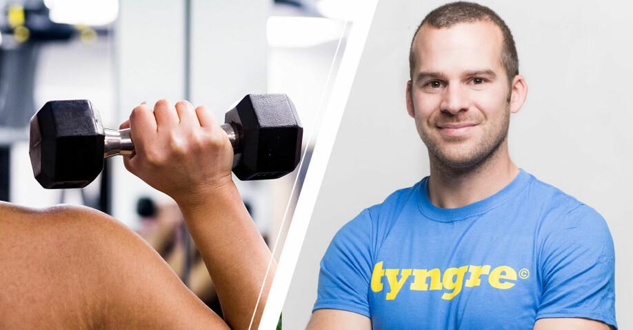Jacob Gudiol och kvinna som styrketränar
