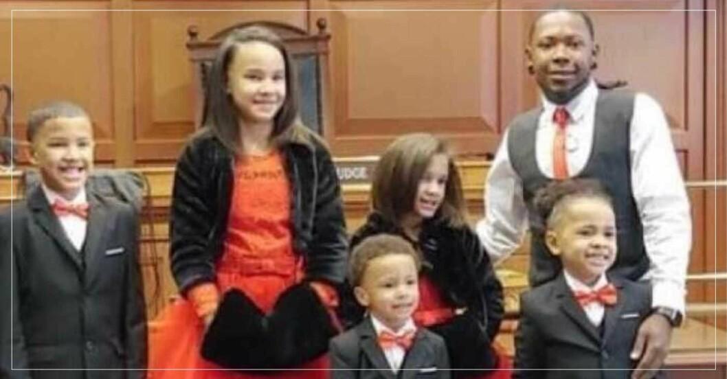 Robert adopterade fem syskon
