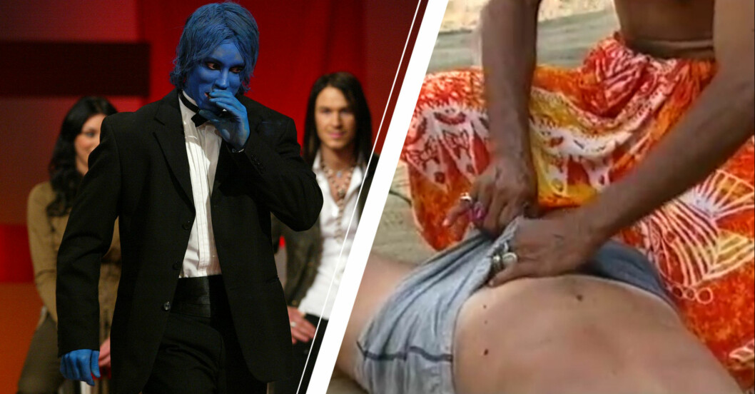 Vänster: Robinson-Robban som är blå. Höger: Snoppmassagen.
